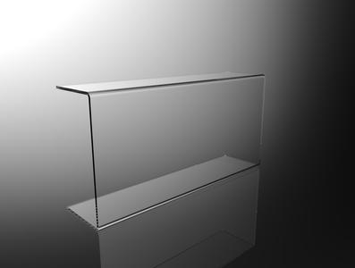 Parafiato parasputi in plexiglass trasparente per alimenti L80cm