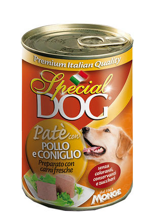 Cane - Patè Pollo & Coniglio Special Dog Gialla Monge 400 gr