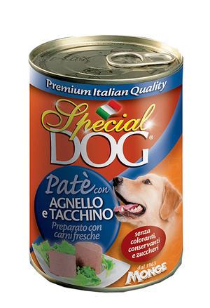 Cane - Patè Agnello & Tacchino Special Dog Blu Monge 400 gr