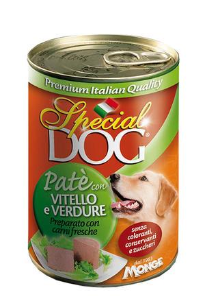 Cane - Patè Vitello & Verdure Special Dog Verde Monge 400 gr