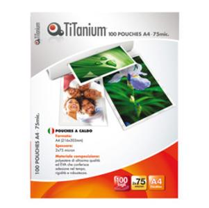 100 POUCHES 216x303mm (A4) 75 micron TiTanium