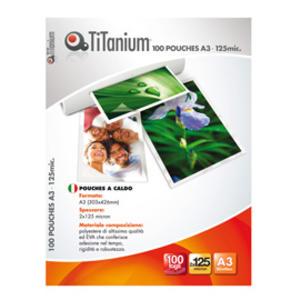 100 POUCHES 303x426mm (A3) 125 micron TiTanium