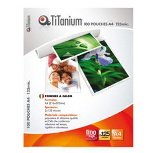 100 POUCHES 216x303mm (A4) 125 micron TiTanium