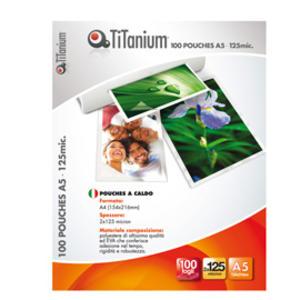 100 POUCHES 111x154mm (A6) 125 micron TiTanium