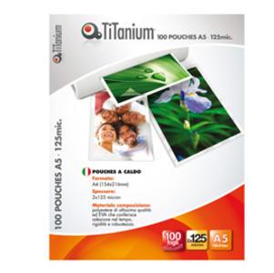 100 POUCHES 80x111mm (A7) 125 micron TiTanium