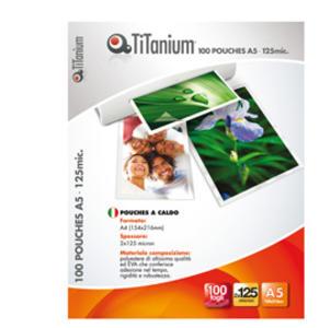 100 POUCHES 54x86mm 125 micron CREDIT CARD TiTanium