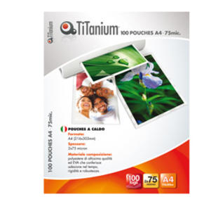 100 POUCHES 216x303mm (A4) 175 micron TiTanium