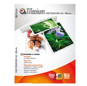 100 POUCHES 154x216mm (A5) 80 micron TiTanium