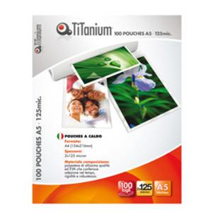 100 POUCHES 75x105mm 125 micron JUMBO CARD TiTanium