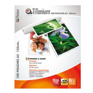 100 POUCHES 80x120mm 125 micron SWISS CARD TiTanium