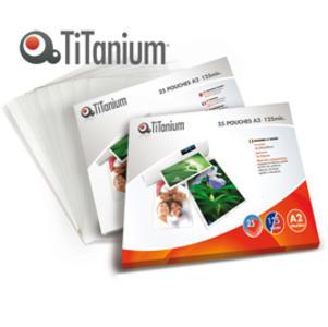 25 POUCHES 594x428mm (A2) 125 micron TiTanium