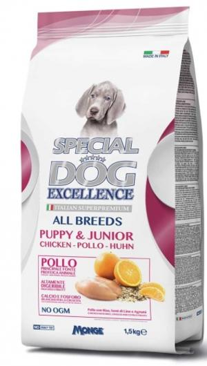Puppy & Junior Special Dog Excellence Monge 1,5 Kg