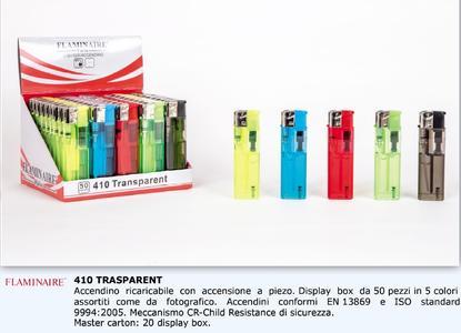 Accendini Flaminaire 410 Trasparente in display x 50 pezzi