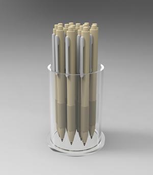 Porta penne in plexiglass cilindrico