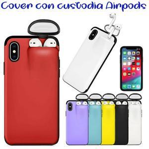 COVER CUSTODIA PROTETTIVA PER IPHONE 6/6S + CUSTODIA E RICARICA AURICOLARI AIRPODS