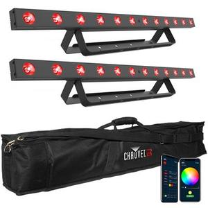 Chauvet DJ - Kit Package - Barre a led, 12 LED (tri-color RGB), 2.5W, Bluetooth Complete di Borsa da Trasporto