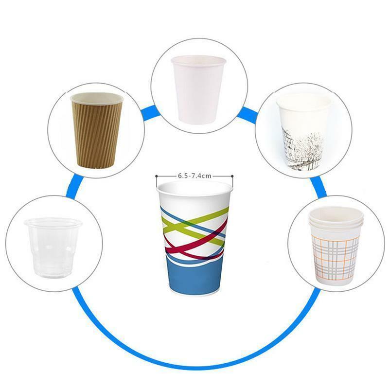 Dispenser porta bicchieri carta plastica acqua e caffè distributore colonna muro