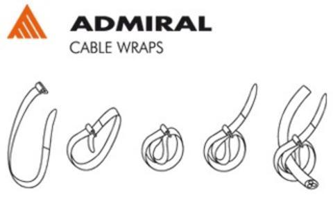 Admiral Cable wrap - fascetta avvolgicavo lunghezza 38 cm, colore vari, confezione da 5 pezzi