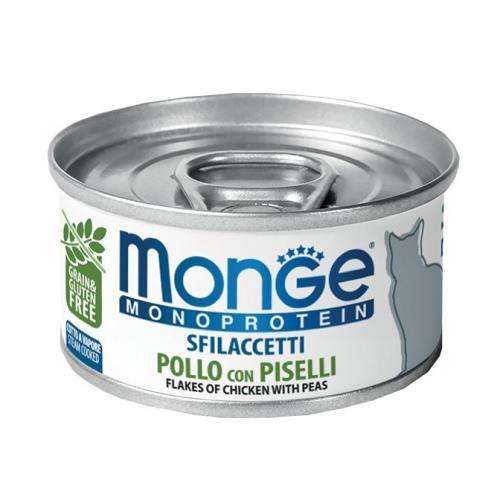 Gatto - Sfilaccetti Monoprotein Pollo & Piselli Monge 80 gr