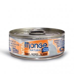 Gatto - Salmone & Tonno del Pacifico Natural Monge 80  gr