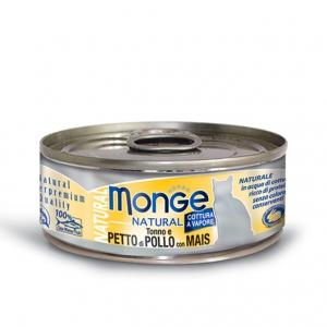 Gatto - Pollo & Mais Natural Monge 80 gr