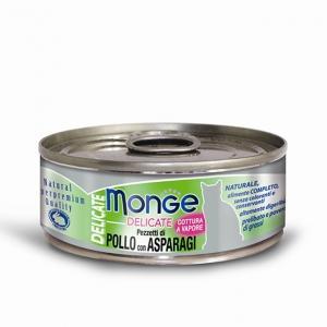 Gatto - Pollo & Asparagi Delicate Monge 80 gr