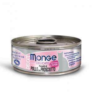 Gatto - Pollo & Prosciutto Delicate Monge 80 gr