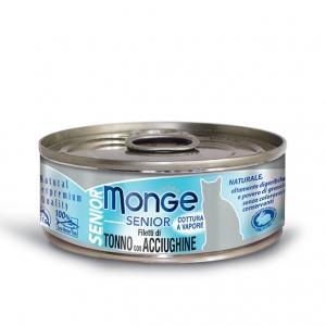 Gatto - Filetti Tonno & Acciughine Senior Monge 80 gr