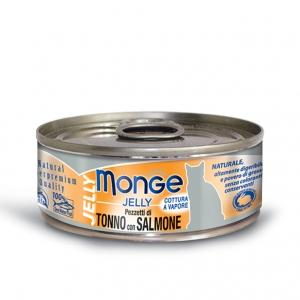 Gatto - Pezzetti Tonno & Salmone Jelly Monge 80 gr
