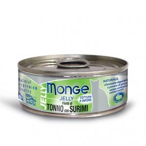 Gatto - Filetti Tonno & Surimi Jelly Monge 80 gr