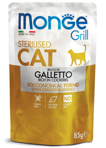 Galletto Sterilised Monge Grill 85 gr