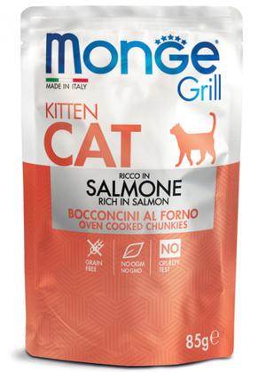 Salmone Kitten Monge Grill 85 gr