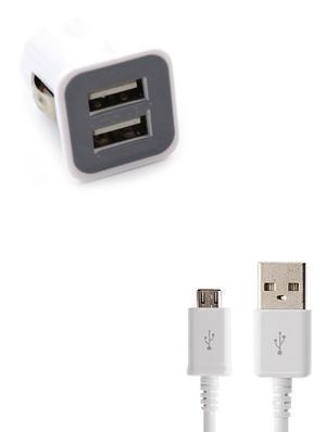 KIT ADATTATORE CARICABATTERIA DA AUTO PER SAMSUNG ANDROID 2 PORTE USB