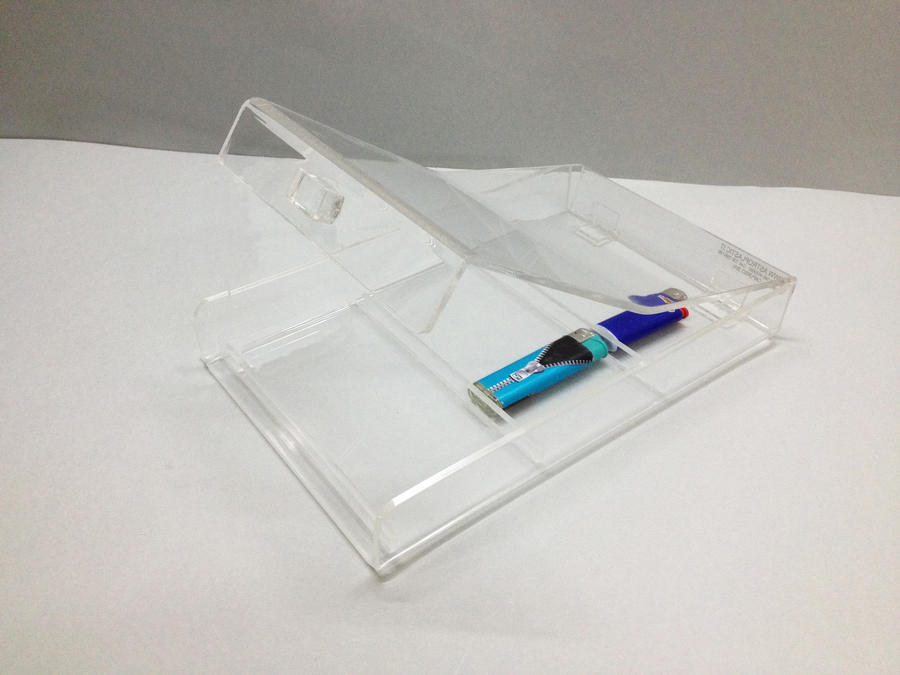 Rendiresto con 3 vani interni per accendini pacchetti oggetti