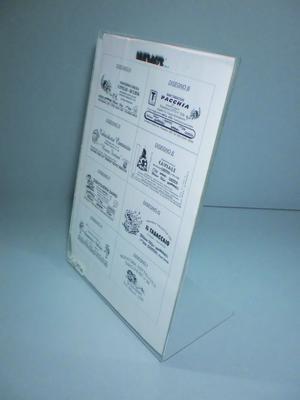 Espositore a L pubblicitario portaprezzi menu formato A4