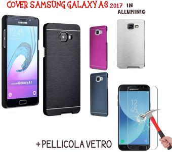 CUSTODIA PROTETTIVA CASE COVER SLIM ALLUMINIO PER SAMSUNG Galaxy A3 2017 + PELLICOLA VETRO