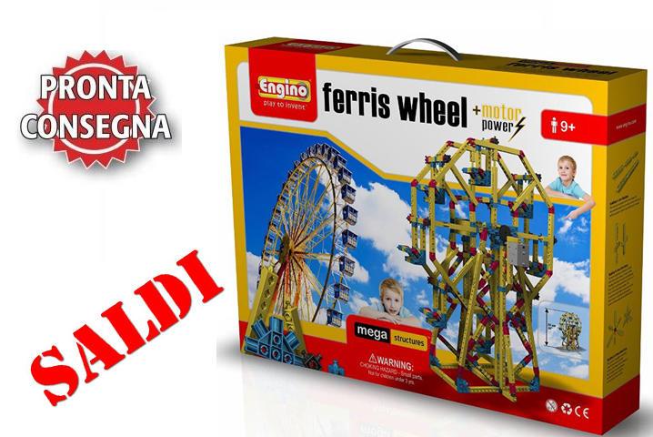 """Costruzioni da 890 pezzi Mega Structures """"Ferris Wheel"""" Ruota Panoramica di Engino Offerta Saldi"""