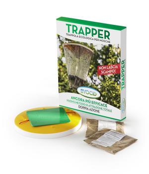 Byocid Trapper Contenitore e 2 Attrattivi per Mosche Ueber