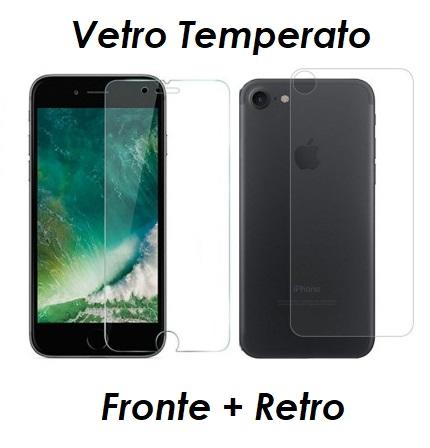 PELLICOLA VETRO FRONTE & RETRO PER IPHONE 7 / 7 PLUS PROTEZIONE FRONTALE E POSTERIORE