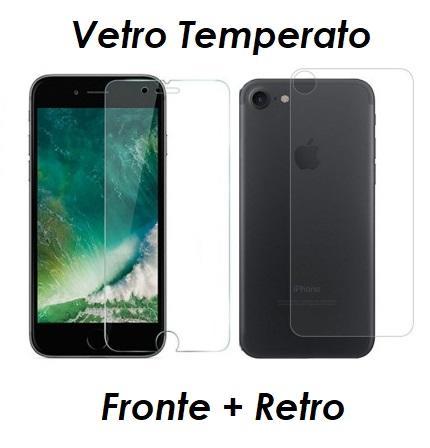 PELLICOLA VETRO FRONTE & RETRO PER IPHONE 8 / 8 PLUS PROTEZIONE FRONTALE E POSTERIORE
