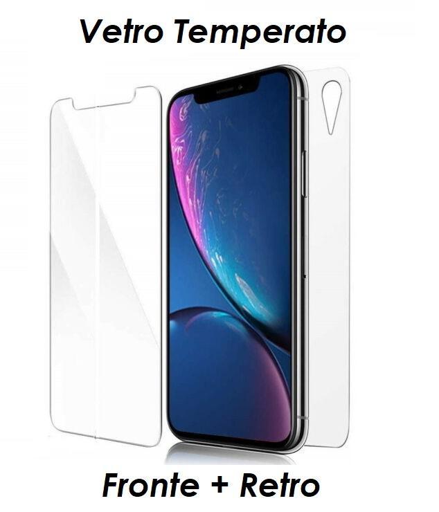 PELLICOLA VETRO FRONTE & RETRO PER IPHONE XR PROTEZIONE FRONTALE E POSTERIORE