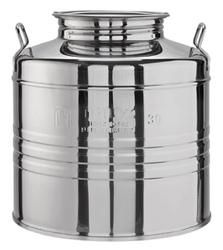 Contenitori fusto acciaio inox per olio ed alimenti lt 30