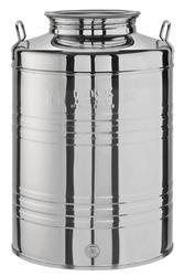 Contenitori fusto acciaio inox per olio ed alimenti lt 50