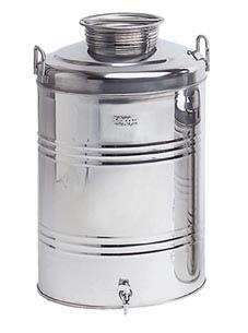 Contenitori fusto acciaio inox per olio ed alimenti lt 100