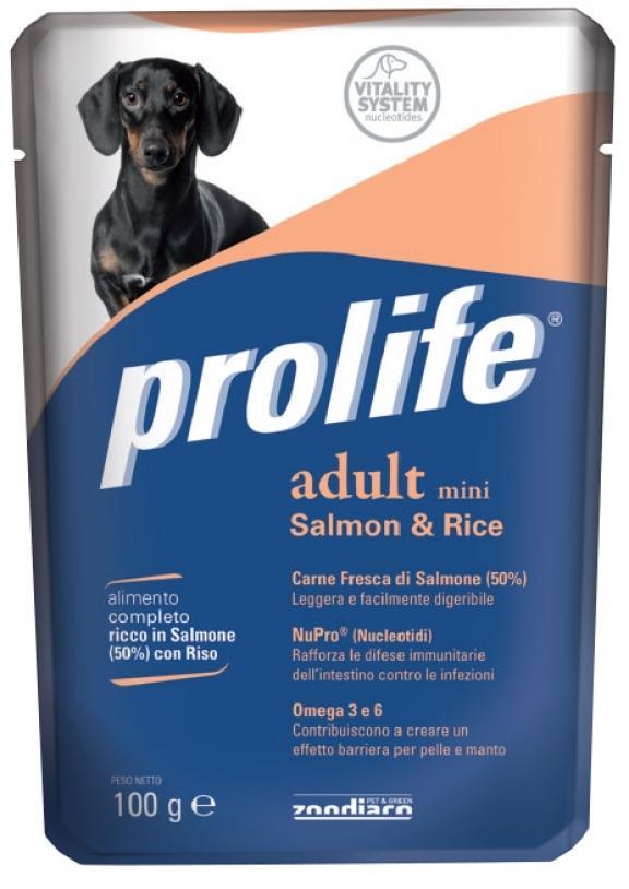 Cane - Adult Mini Salmone & Riso Prolife 100 gr