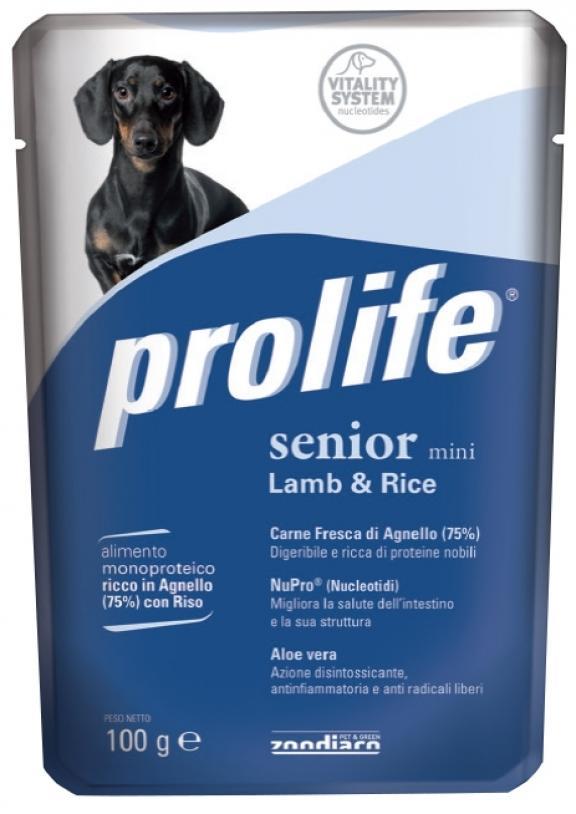 Cane - Senior Mini Agnello & Riso Prolife 100 gr