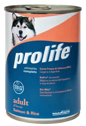Cane - Bocconcini Adult Salmone & Riso Prolife 400 gr
