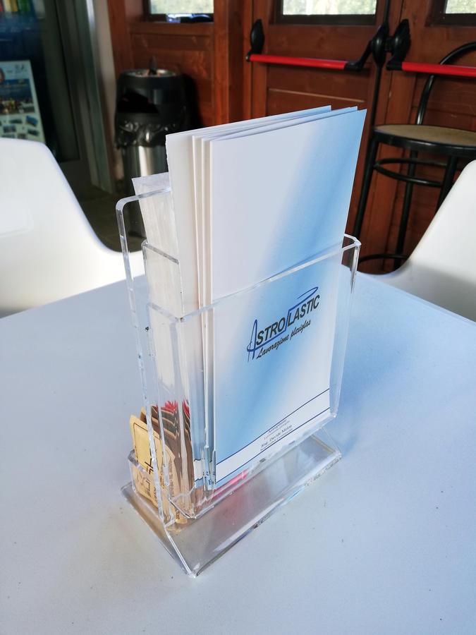 Porta Menù tovaglioli bustine zucchero Bar in plexiglass