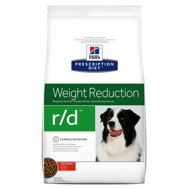 Hill's r/d Weight Reduction 1,5 kg Croccantini Crocchette Per Cani Dietetico