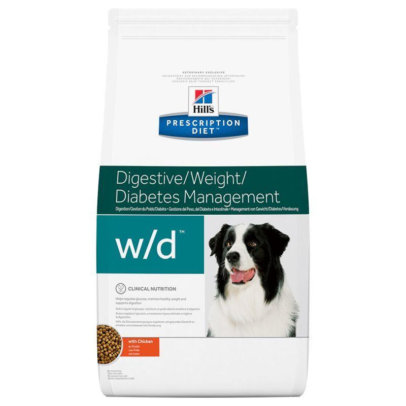 hill's w/d Digestive Weight Diabetes 1,5 kg Crocchette Croccantini Per Cani Diabete